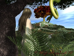 Eve temped by Serpent