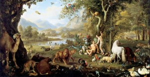 Garden of Eden before Sin and Rebellion to God.