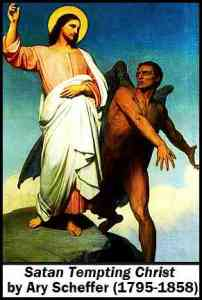 Devil tempting Jesus-Satan