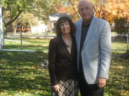 Missionaries Norman and Selma Oetker at our home in Saint Charles Missouri US. November 2013