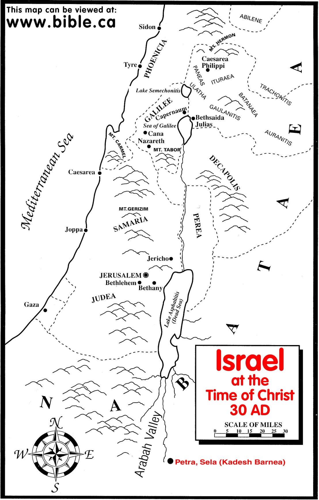 maps-palestine times of Jesus-33AD
