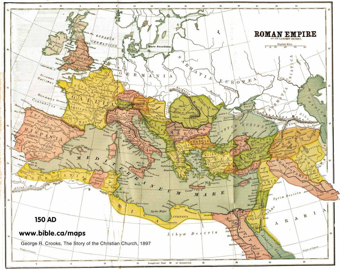 Maps Roman Empire Peak 150AD