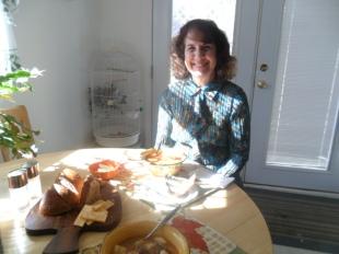 Selma and I at breakfast November 2013
