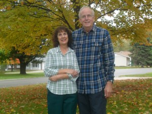 Missionaries Norman and Selma Oetker November 2013 at our home in Saint Charles Missouri US.