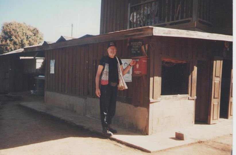 "Ban Na Pa Paek, Thailand, HmongNews.Org, Pictured is when the first paved road was built through the mountains to the Mong Njua village  NaPa Paek, and the first Postal Box. 1990""s-2000's The original NaPaPaek is gone and the new is there now 2014."