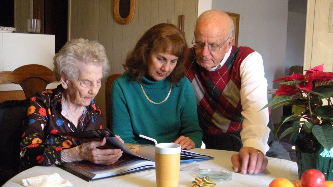 Protestant Christian Missionaries Norman and Selma Oetker with Selma's Mom December 2014 Bismark Missouri U.S.