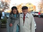 Norman and Selma Oetker at Saint Charles Missouri U.S. Historical Main Street Anually Celebrating Christmas 2014 along Missouri River