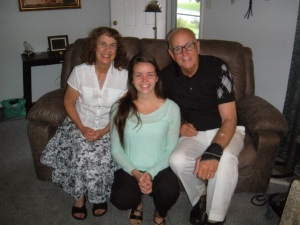 July, 2015 Norman and Selma Oetker with Norman's daughter Lydia. Saint Charles Missouri U.S. at our home.