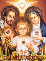 sacred heart of Jesus, Joseph,Mary